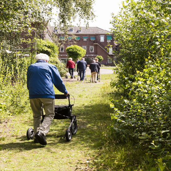 dagbesteding de buitenhof tilburg bezoekers aan het wandelen